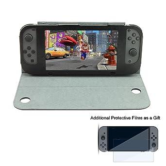 Yoofor Caso de Cuero de la PU para Nintendo Switch, carcasa ...