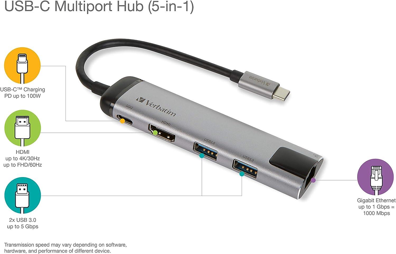 Verbatim Usb C Multiport Hub Mit Usb 3 0 Hdmi 4k Elektronik