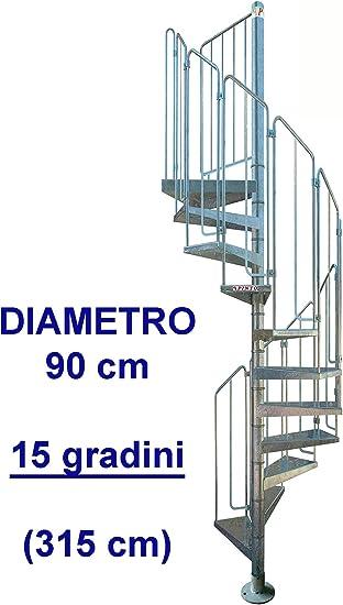 Escalera de caracol de acero galvanizado Mod. Thor: Amazon.es: Bricolaje y herramientas