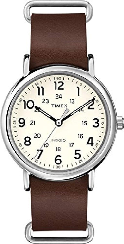 Timex T2P495 - Reloj de Pulsera Unisex, Correa de Piel, Color marrón