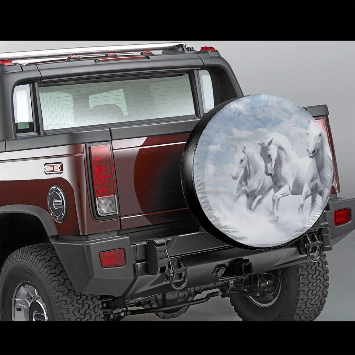 Polyester Universal Spare Wheel Tire Cover Wheel Covers Jeep Trailer Rv Suv Truck Camper Travel Trailer Accessories 16 Inch 7 Funny/&shirt Cool Horse