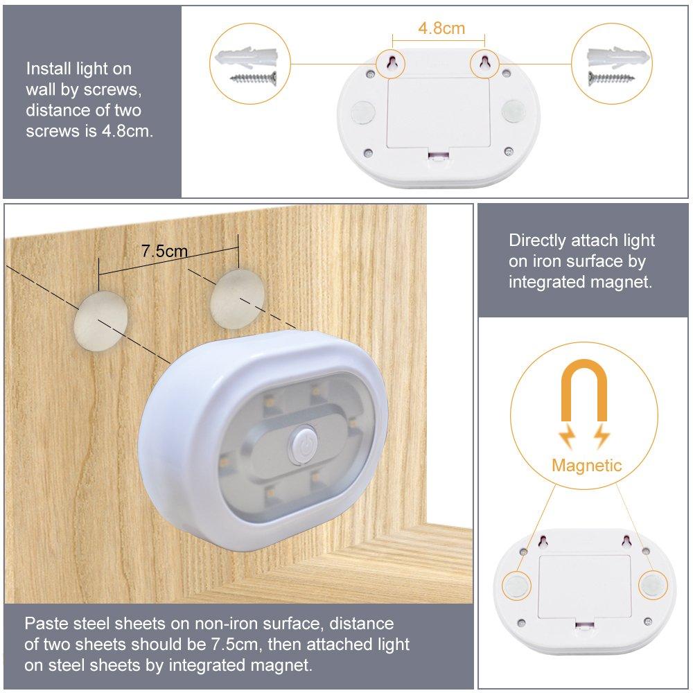 Telecommande Sans Fil Lampe Veilleuse Led A Pile Eclairage Led