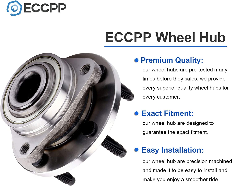 ECCPP Wheel Bearing Hub 513237 Hub Bearing Assembly Hub Assemblies Front Axle 5 Lugs for Chevrolet HHR 2006-2009 Non-ABS Chevrolet HHR 2006-2008