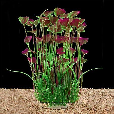 BSGP - Plantas Artificiales de plástico para Acuario, para decoración de pecera, Planta Grande, no tóxicas, seguras para Todos los Peces, 40 cm de Alto: ...