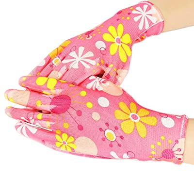 2020 New! Gardening Glove,Leewos Garden Glove Non-Slip Anti-stab Lawn Gloves,Wear Wear-Resistant Patio Gloves,Breathable Waterproof Gloves(Pink,Free): Toys & Games