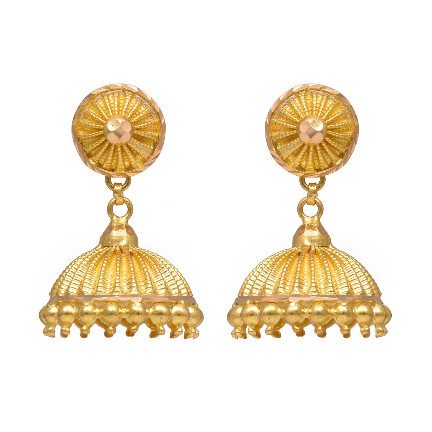 women plated jewellery itm par jhumka gold earrings amz indian jewelry bollywood earring wedding