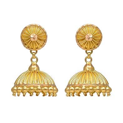 002f1b0fd Buy Joyalukkas 22k Yellow Gold Jhumki Earrings for Women Online at Low  Prices in India | Amazon Jewellery Store - Amazon.in