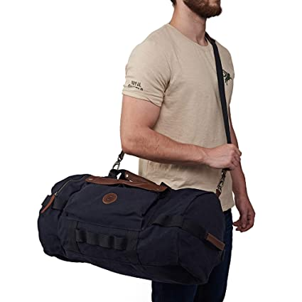 c89b3a9d3 Royal Enfield BGSS18001 Canvas/Leather Flying Flea Duffle Bag (Blue,  Large): Amazon.in: Car & Motorbike