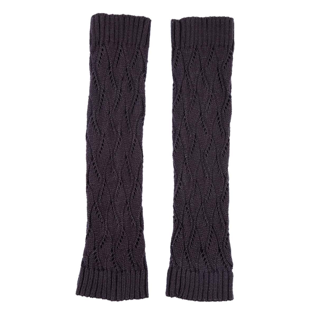 TININNA Medias Calcetines, invierno caliente ahueca hacia fuera Legging de punto de punto de ganchillo calentadores de la pierna calcetines altos de ...