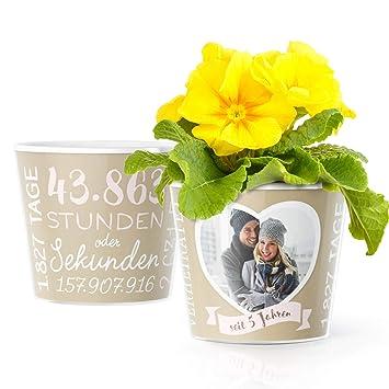 Holzerne Hochzeit Deko Blumentopf O16cm Geschenk Zum 5