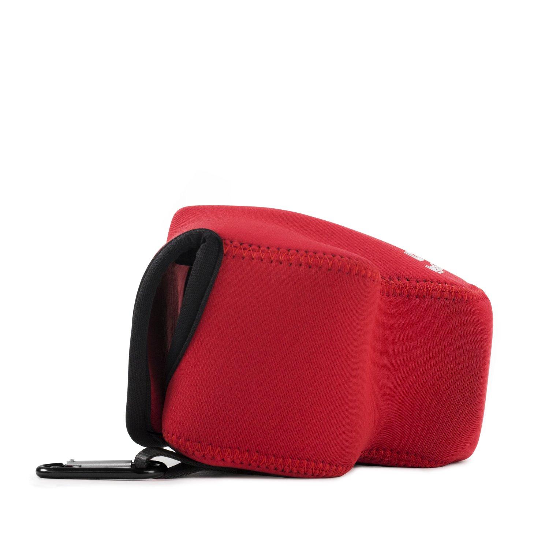 Estuche de C/ámara Ultra Ligero MG728 color Rojo MegaGear de Neopreno para Nikon Coolpix B500