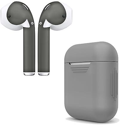 Amazon.com: AirPod, carcasa de carga y pieles. Funda para ...
