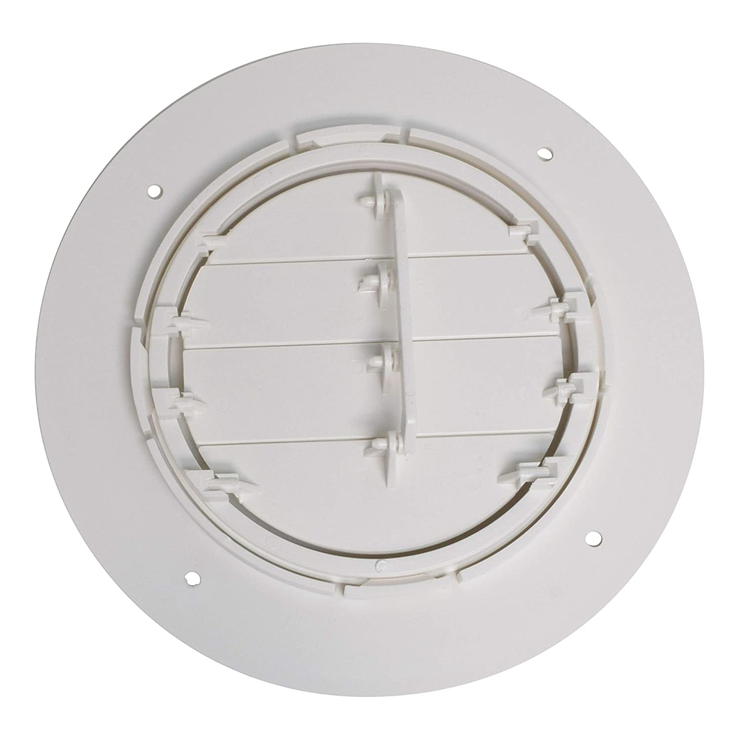 4 ID, 7 OD Valterra A10-3357VP White Rotating Heat and A//C Register with Damper