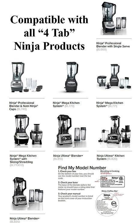 Ninja licuadora 16 oz Taza - con SIP y sello tapas ...