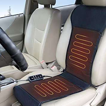 Smart Safety Protection Universal Fit Heated Seat Cover with Auto Shut Off Relief Expert Car Seat Heater Warmer