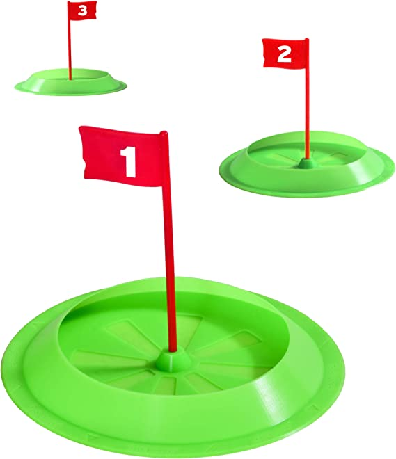 Amazon.com : GoSports Pure Putt Challenge Putting Cups 3 Pack - Practice Putting Indoors & Outdoors : Sports & Outdoors