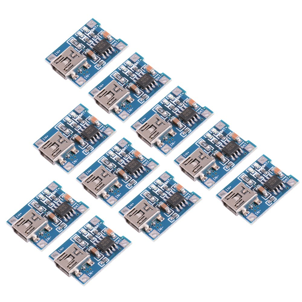Xcsource 10pcs 1a 5v Mini Usb Tp4056 Lithium Battery Power Charger Side 5x7cm Printed Circuit Pcb Vero Prototyping Track Strip Board Uk Module Te583 Kitchen Home