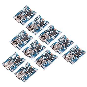 XCSOURCE® 10 piezas Tablero del Módulo Cargador de la energía Mini USB 5V 1A Batería Litio TP4056