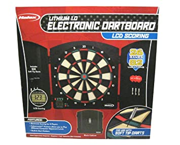 Halex Lithium 1.0 Electronic Dartboard with Black Cabinet