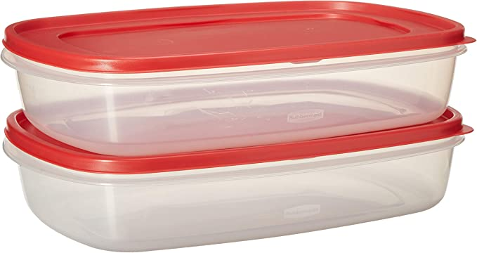 2.5 G Rubbermaid 40 Cup Rectangle Food Storage Container Easy Find Vent Lid