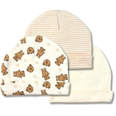 "Spencer's ""Let's Cuddle"" 3 Pack Variety Infant Caps"