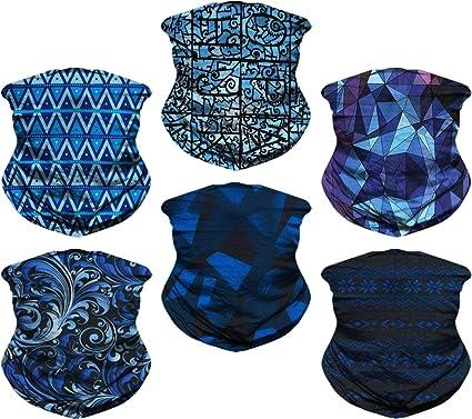 Magic Headwear Blue And Yellow Light Outdoor Scarf Headbands Bandana Mask Neck Gaiter Head Wrap Mask Sweatband