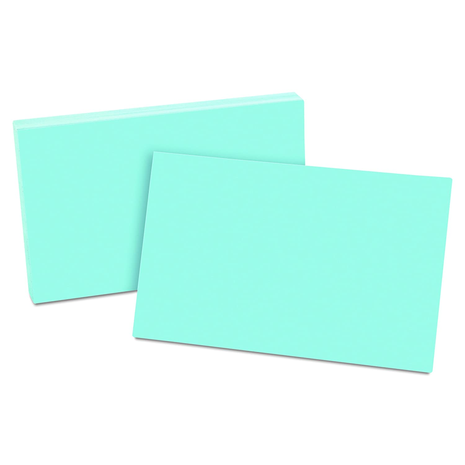 Oxford Unruled Index Cards, 5 x 8 Inches, Blue, 100 per Pack (7520-BLU) Esselte Corporation