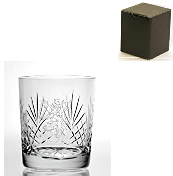 Corte cristal 255 Whisky cristal con inglés León diseño – caja de regalo