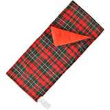 E-TING Sleeping Bag Christmas Accessory for Elf on the Shelf (Doll is not included) (Red-green Plaid)