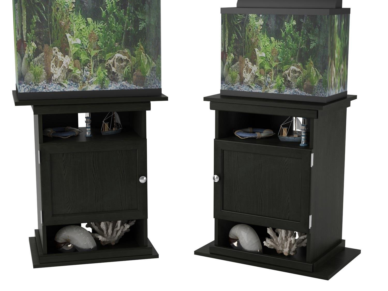 Amazon.com : Ameriwood Home Flipper 10/20 Gallon Aquarium Stand, Black Oak  : Pet Supplies