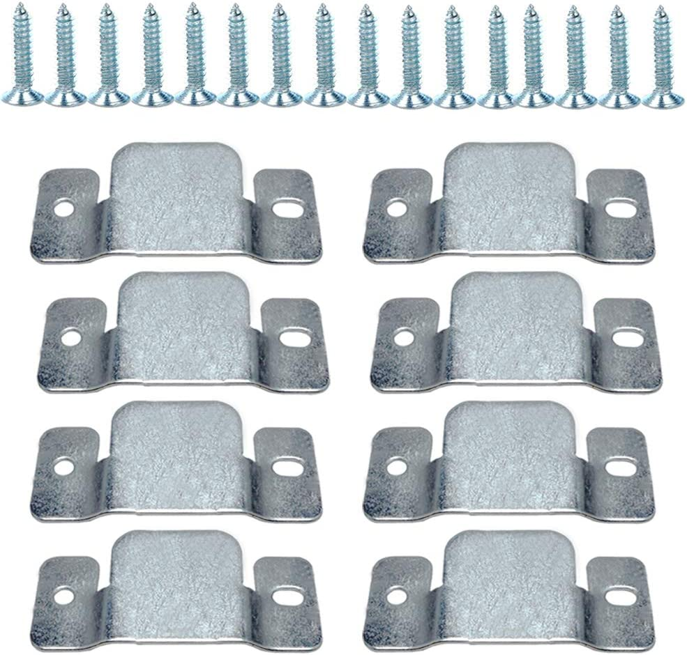 Flush Mount Bracket, Tiberham Sectional Sofa Interlocking Clip Furniture Connector, Heavy Duty Connecting Clip Bracket for Large Picture Display Headboard Wall Mount Hardware (4 Pairs)