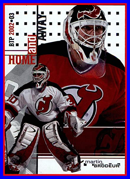 new product ef533 5617f 2002-03 Between the Pipes #138 Martin Brodeur Home and Away ...