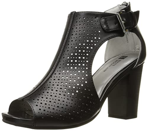 White Mountain Women's Dreamy Heeled Sandal, Black, ...