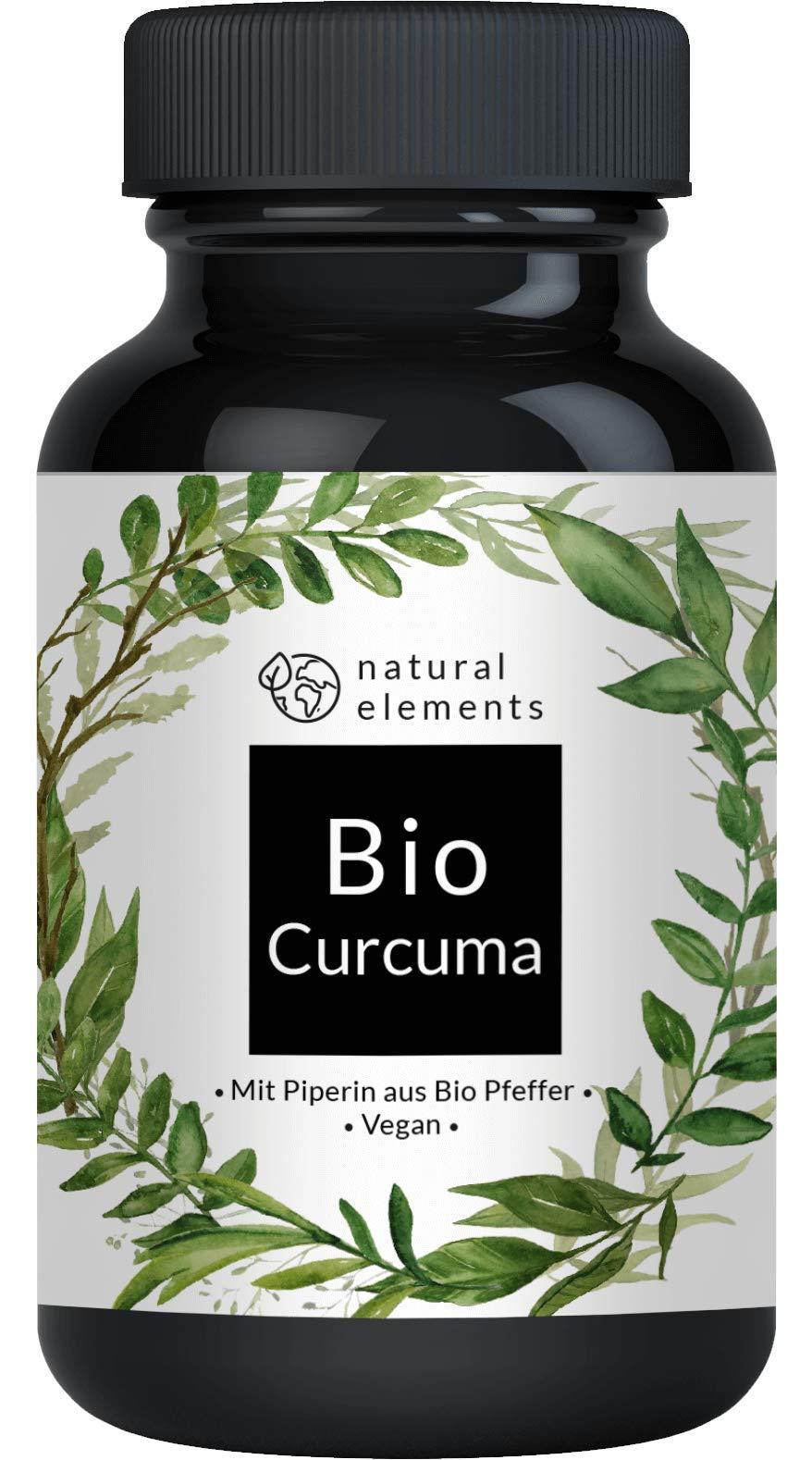 Bio Curcuma (Kurkuma) - Laborgeprüft - 180 vegane Kapseln - 4440 mg pro Tagesdosis (Bio Curcuma + Bio schwarzer Pfeffer) - Mit Curcumin und Piperin - Hochdosiert, vegan und hergestellt in Deutschland product image