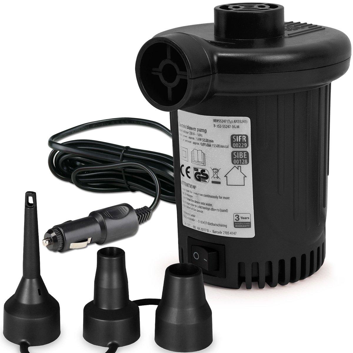 KERUITA Elektrische Pumpe Quick-Fill-Luftpumpe Kompressor 220V /& 12V  *NEU*