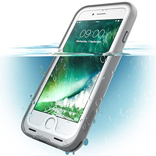 34 opinioni per i-BLASON Waterproof iPhone 7 White/GRAY
