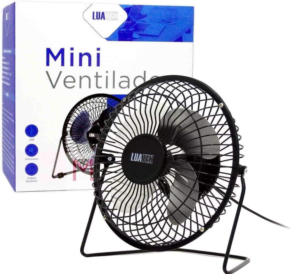 Mini Ventilador USB de Mesa Ângulo Ajustável - LS-904