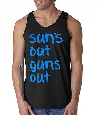 6e08c10e943b7 fresh tees Sun s Out Guns Out Gym Tank Top 22 Jump Street at Amazon ...