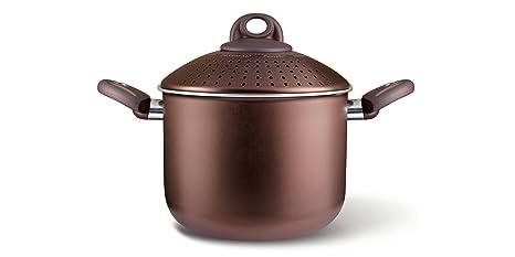 Olla para Pasta Uniqum - 20 cm. Color Choco marrón - Marca Pensofal
