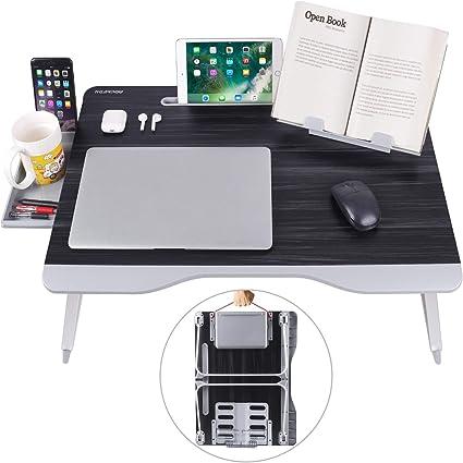 Amazon.com: NEARPOW - Mesa de cama para ordenador portátil ...
