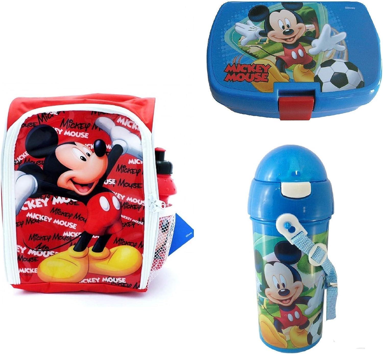 Disney Mickey Mouse Almuerzo Mochila con Emparedados Caja y Bebidas Botellas: Amazon.es: Ropa y accesorios