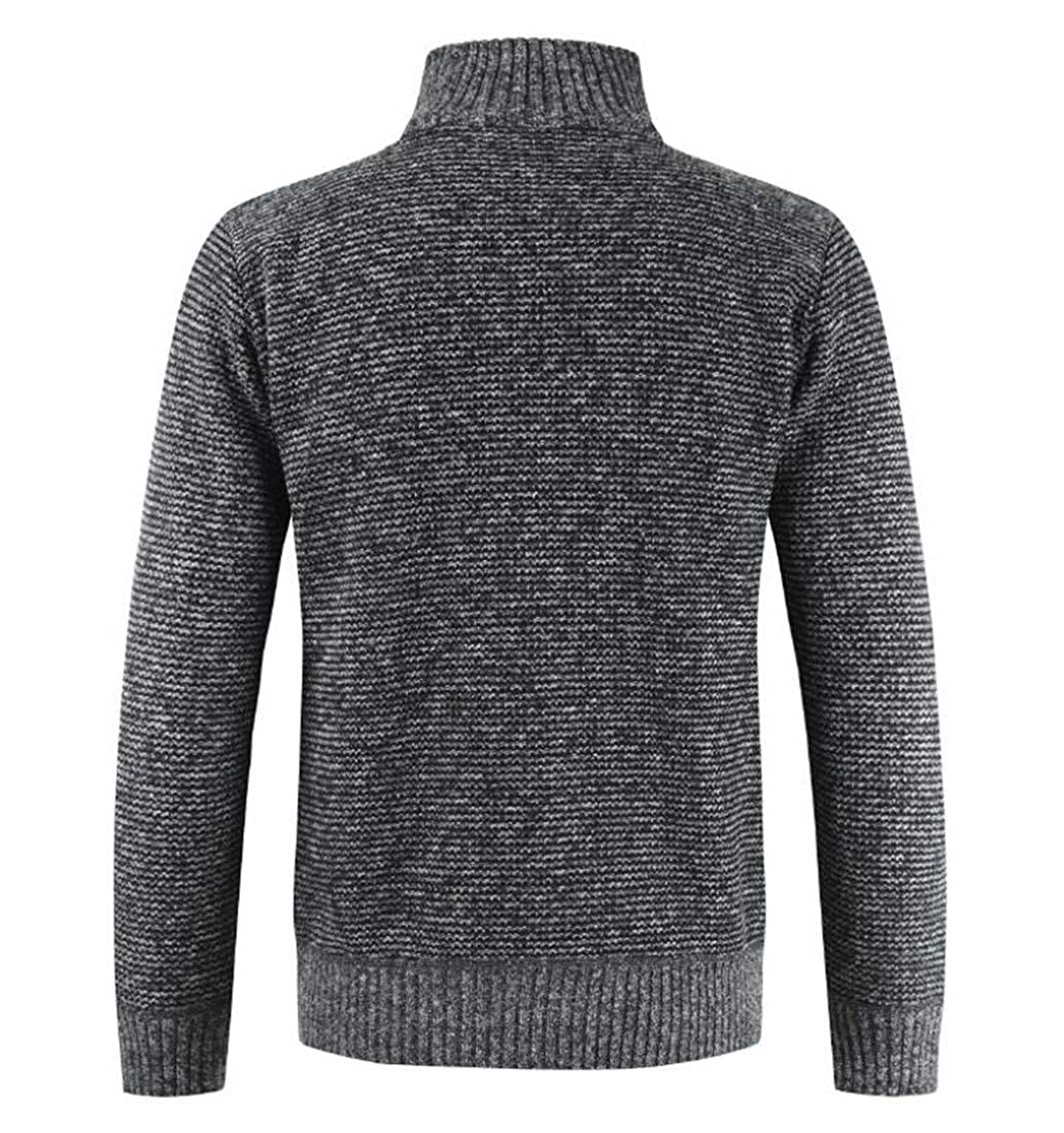 Cromoncent Mens Warm Thicken Stitching Casual Sweater Knit Cardigans