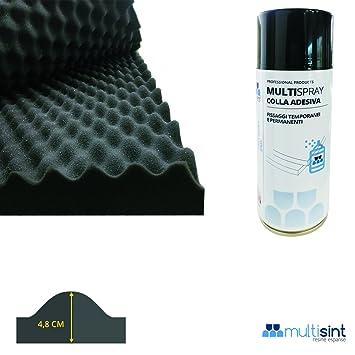 Paneles aislamiento acústico bugnati – Espuma de poliuretano 50 x 50 x 4,8 cm