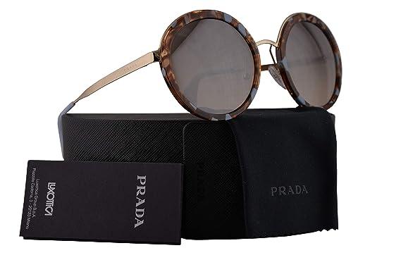 154c6373526f Amazon.com  Prada PR50TS Sunglasses Striped Brown Azure w Gradient ...