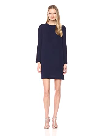Maggy London Women's Novelty Crepe Shift with Pleated Sleeve Detail, Galaxy Blue, 2