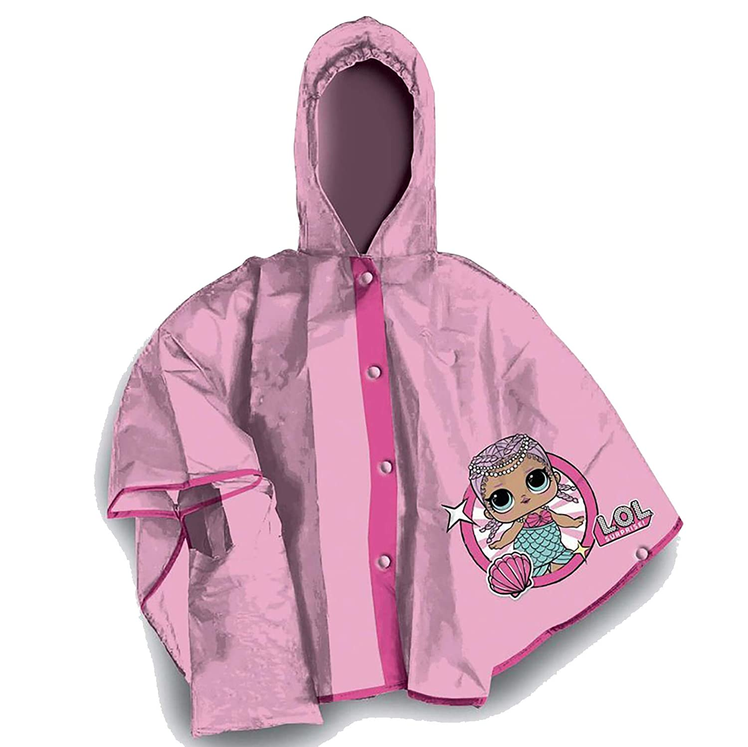 Lol Surprise Girls' Cape Raincoat Pink Pink