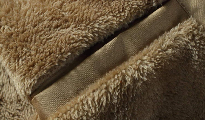Spirio Mens Embroidery Ma-1 Flight Linen Fleece Zip-Up Bomber Warm Jacket Coat