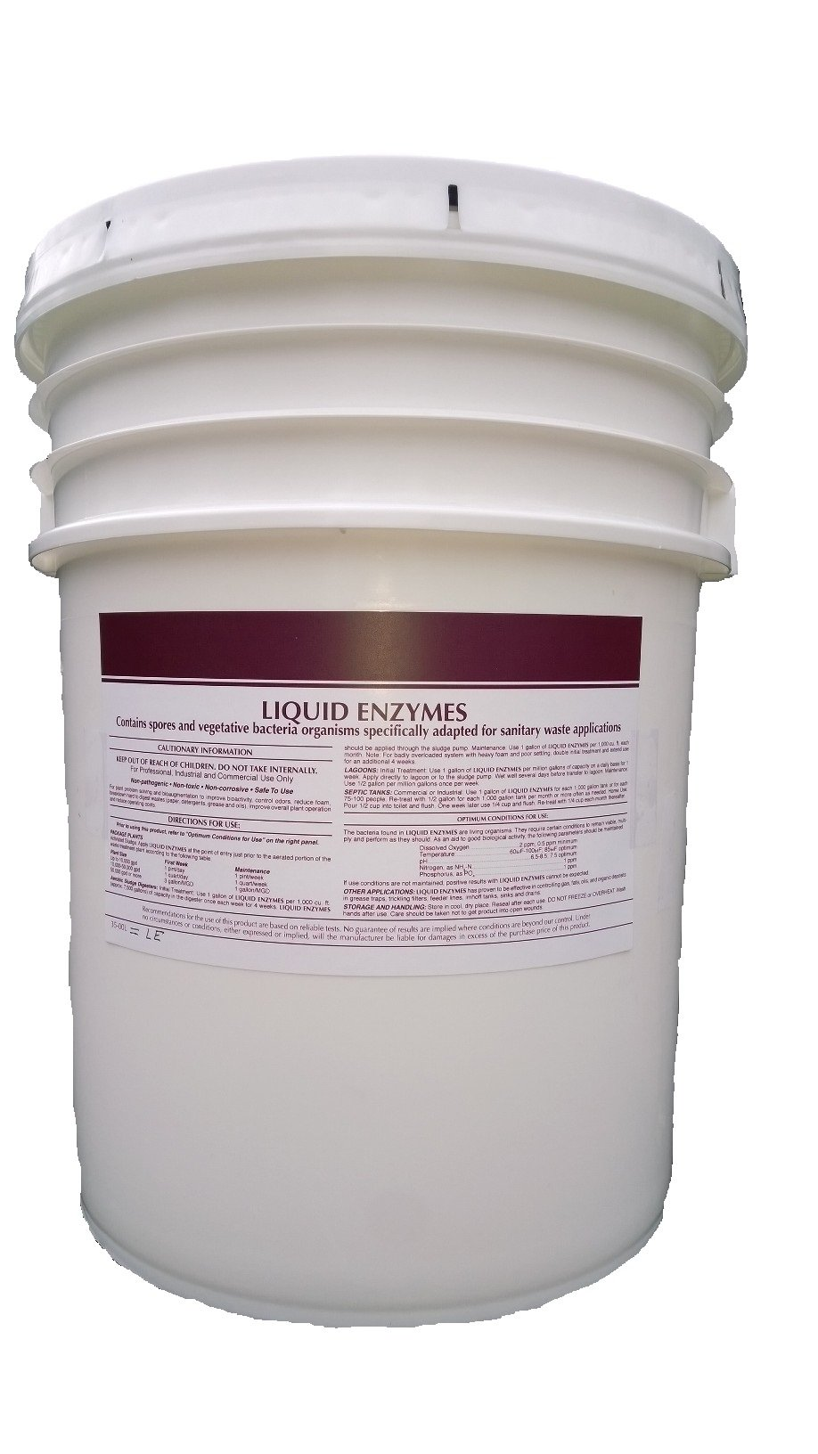 Patriot Chemical Sales 5 Gallon Pail Septic Tank Treatment Liquid Enzymes Grease Trap Cleaner Industrial Strength
