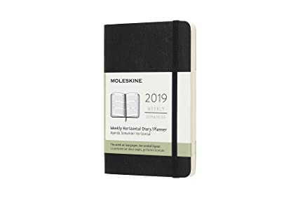 Moleskine Classic Soft Cover 2019 12 Month Weekly Horizontal Planner, Pocket Size (3.5