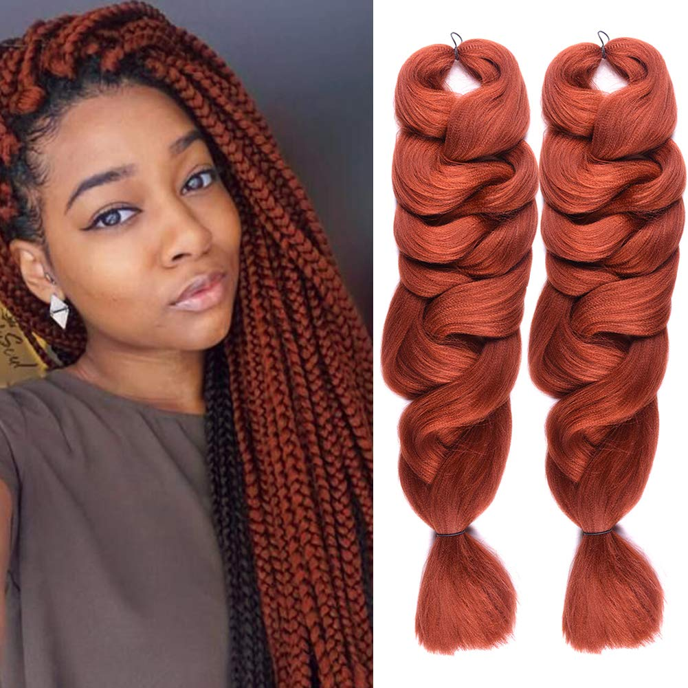 2 Pack Jumbo Braiding Hair 350 Color Kanekalon X,Pression Braiding Fiber  Hair Extensions African